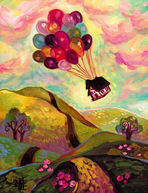 Whimsical Hot Air Balloon Disney Pixar Up Inspired Original