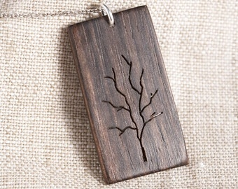 Wooden Tree Pendant