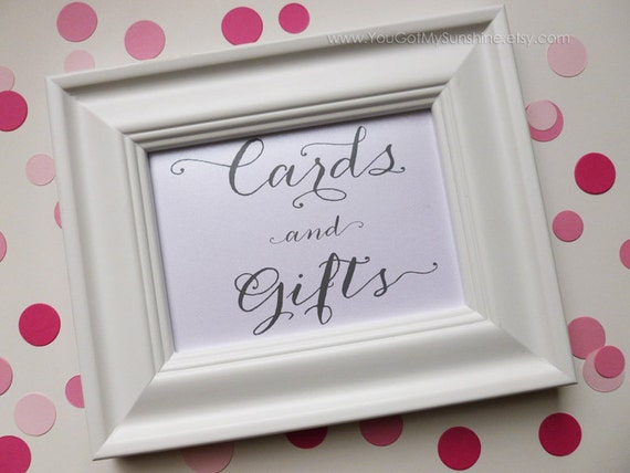 Cards & Gifts Box CardWedding Table SignReception Seating ...