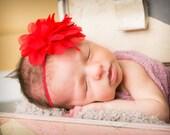 15% Off..Baby Headbands, Red Headband, Baby Girl Headband, Baby Bows Headband, Infant Headband, Headband, Newborn Head band