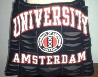 University Amsterdam Upcycled/Recycled Tshirt Cross Body Bag