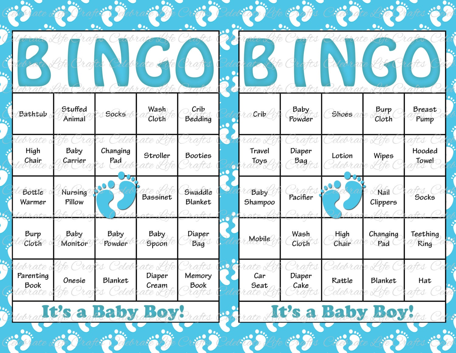Punchy image with regard to free printable baby shower bingo cards for 30 people