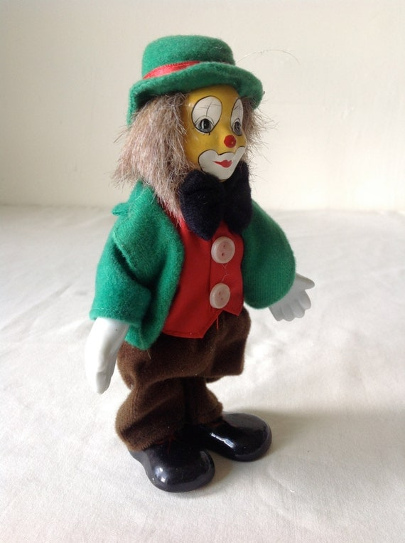 Originality Vintage CLOWN Marionette Hand Painted Head