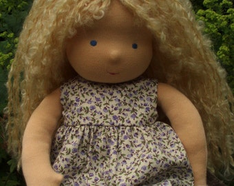 "Waldorf doll 16"", blond Suzi ( made to order )"