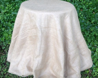 "70"" Round Burlap Tablecloth - Table Skirt"