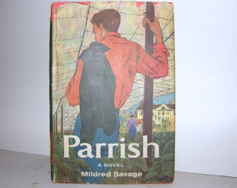 1958 Parrish by Mildred Savage, Vintage Best Seller, Vintage Hardcover, Vintage Hardcover Books, Mid-Century Books, Mid-Century Movies