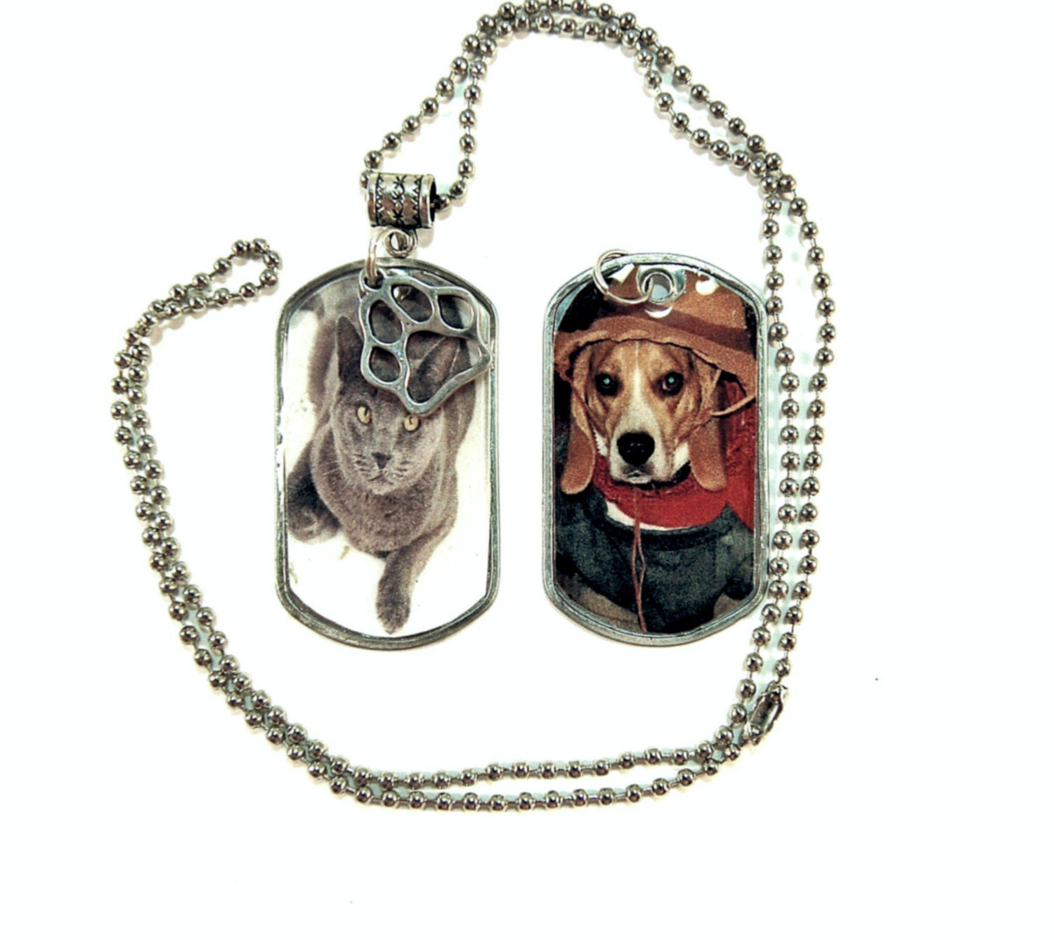 pet photo dog tag necklace personalized custom dog tag picture. Black Bedroom Furniture Sets. Home Design Ideas