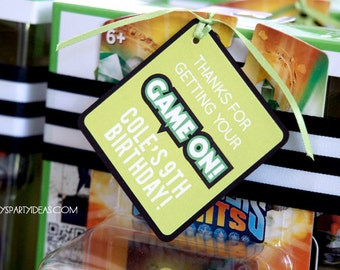 Video Game Birthday Party    Gamer  Party Favor Tags & Sign   Gamer Decorations   Truck   Video Game  LuluCole