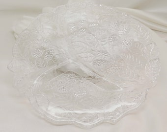 Vintage Indiana Glass Loganberry Grill Plate
