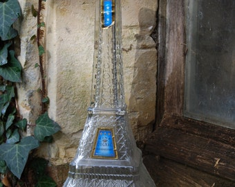 Fabulous Limited Edition Vintage French Eiffel Tower Empty Cognac Bottle-perfect for Home Decor Projects!