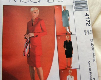"McCalls 4172 uncut womens ""tall"" size 10, 12, 14 and 16"
