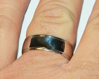 Mans Wedding Band, Stainless Steel, Size 12, Last One