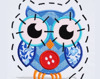 Crafty Owl APPLIQUE Embroidery Designs 3 sizes INSTANT DOWNLOAD