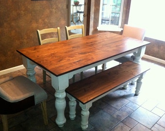 Hand-Crafted Farmhouse Tables. Fully Customizable With Hand Turned Legs