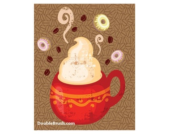 Coffee and Donuts Print