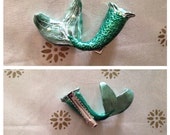 Little Mermaid Inspired Mermaid Tail and Seashell Bra Bobby Pin Set