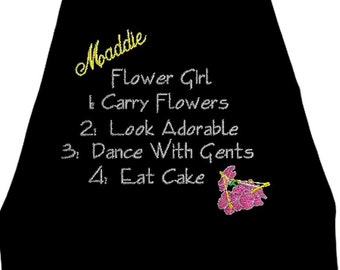 Super Hero Flower Girl's Cape,  Embroidered Flower Girl Wedding Photo Op Cape