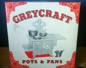 Vintage Greycraft miniature cast iron pots & pans set