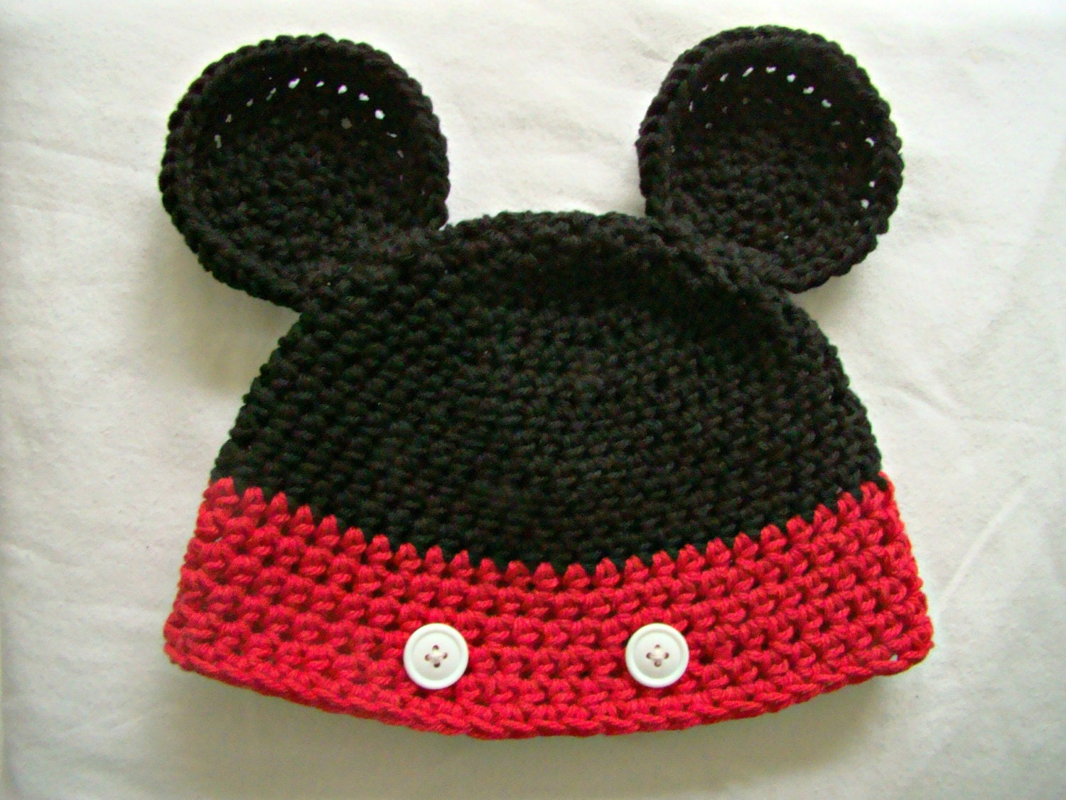 mouse character hat crochet knit hat by TheFreckledPurl on Etsy