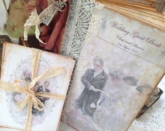 Edwardian themed Wedding Guest Book - Downton Abbey Inspired-60 pages
