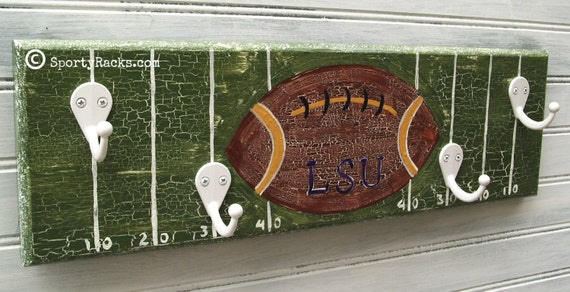 Items Similar To Football Team Wall Hook Rack Custom