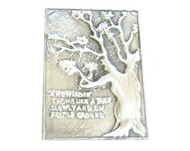 Inspirational plaque tree text knowledge