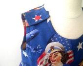 Girls Dress - Sun dress - U.S.A Forth of July - Size 18 m