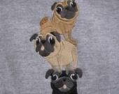 "Embroidered ""Pug Stack Logo"" Crewneck"