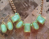 Green Chunky Necklace-Statement Necklace-One of a Kind-Handmade-Designs by Stalinda