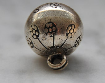 HT-130 Thai Hill Tribe Silver Bell Pendant