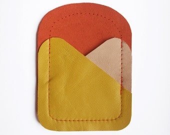 CARDHOLDER // orange, yellow and skin tone