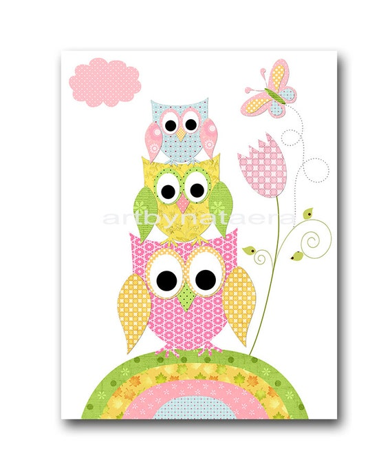 Owl decor owl nursery baby girl nursery decor baby nursery - Girl owl decor ...