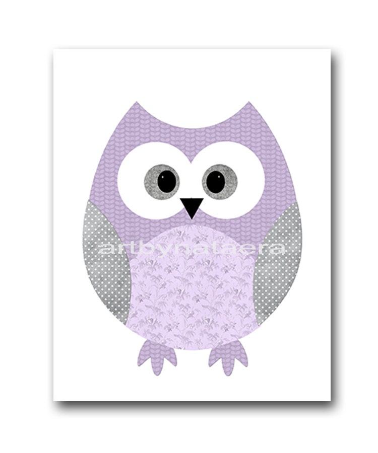 Kids wall art owl nursery owl decor baby nursery decor baby - Girl owl decor ...
