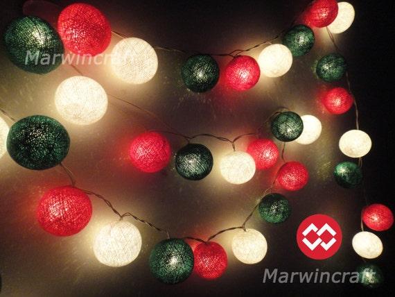 35 Tiny Christmas Tree Tone Cotton Balls Fairy By Marwincraft