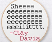 Clay Davis - Cross Stitch Pattern.
