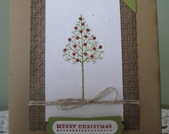Handmade Greeting Card: Merry Christmas