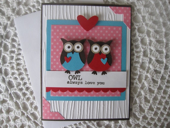Handmade Greeting Card: Owl Always Love You by ConroysCorner