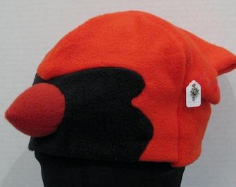 Cardinal Fleece Hat - RED & BLACK