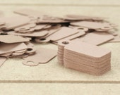 100 Mini Kraft Hang Tags / Jewelry Tags / Product Tags / Labels - 1 inch