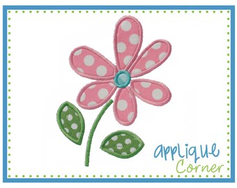 INSTANT DOWNLOAD Flower applique design in digital format for embroidery machine by Applique Corner