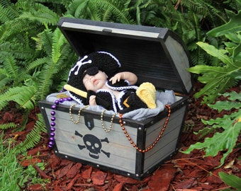 Pirate Treasure Chest Photography Prop