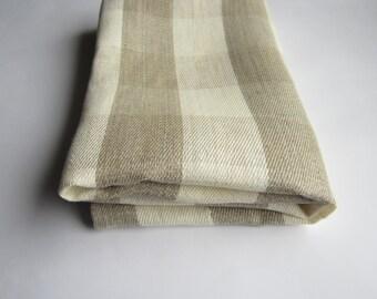 Checkered linen towel, Rustic linen towel, Linen bath sheet, Organic linen towel, Bath linen towel, Rough towel