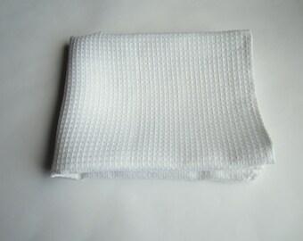 White linen waffle towel, Waffle weave towel, Kitchen linen towel, Hand towel, Face towel, Bath towel, Linen bath sheet, Organic linen towel