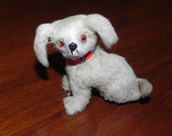 Pekinese Dog Figurine Handmade Rabbit Fur Germany Furry Dog