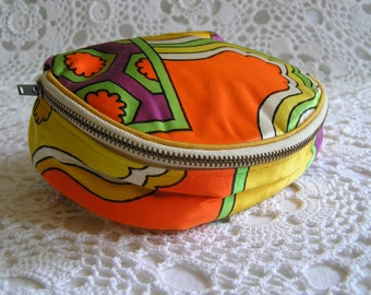 Mod Psychedelic Pouch, Makeup Bag, Clutch