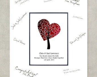 Add a 16x20 Signature Mat - Great  Guest Book for Wedding / Shower / Anniversary Event