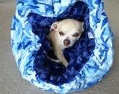 Blue Camo Minky Pet Cuddle Bag