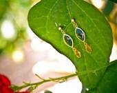 Navy Eyelet Earrings