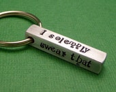 Harry Potter Inspired - I Solemnly Swear That I Am Up To No Good - A Hand Stamped Bar Keychain in Aluminum or Copper