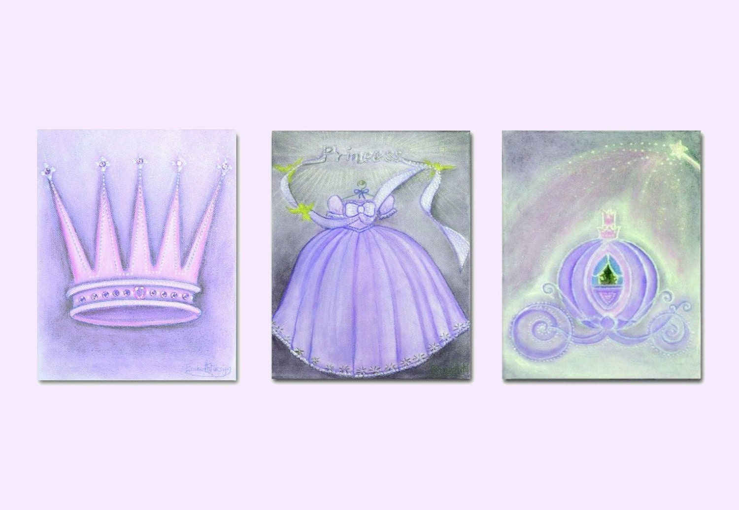Princess decor nursery prints purple nursery decor by for Purple dining room wall art